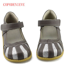 COPODENIEVE Children School Uniform Shoes Girls Dress Shoes bowtie Black Leather shoes Pretty Comfortable For Kid Grils(China)
