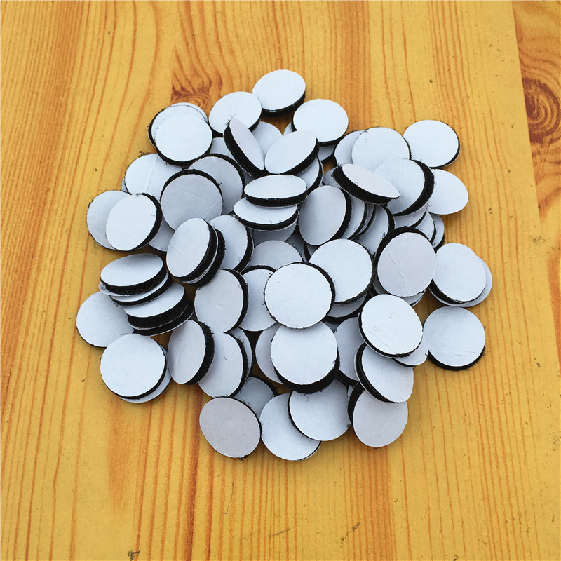 Arts,crafts & Sewing 50pairs Self Adhesive Fastener Tape Hook Loop Disks Magic Round Double Side Sticker Nylon Table Chair Feet With Glue 20*28mm