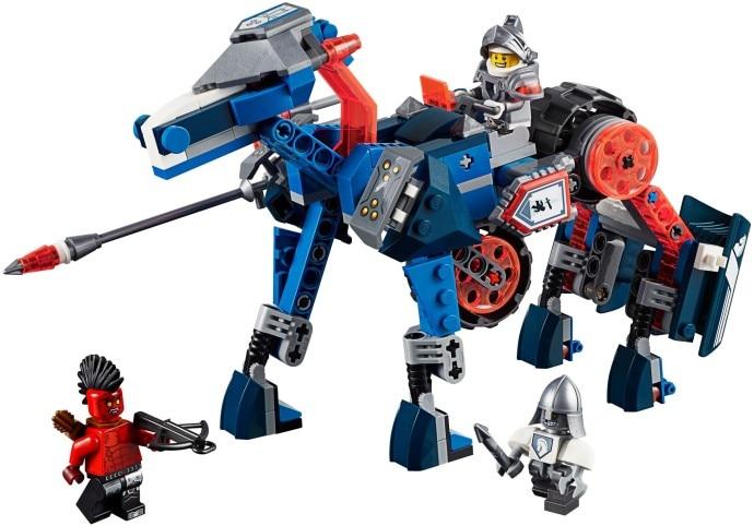 Nexoe Knights Lance's Mecha Horse Action Figure Bot Lancebot Flame Thrower Minifigures Compatible legoe brick kid toys Brand New
