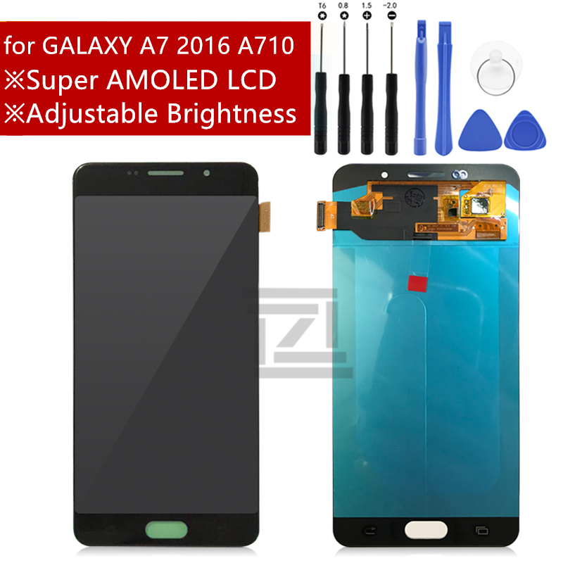 Super AMOLED LCD For SAMSUNG GALAXY A7 2016 A710 LCD Display Touch Screen Digitizer LCD Display
