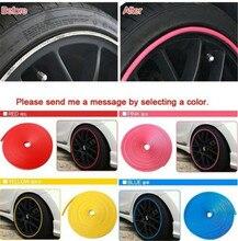 Наклейки для салона автомобиля, автомобильные кольца для щитки колес из сплава, 8 метров, декоративная защитная линия, украшение для автомобиля
