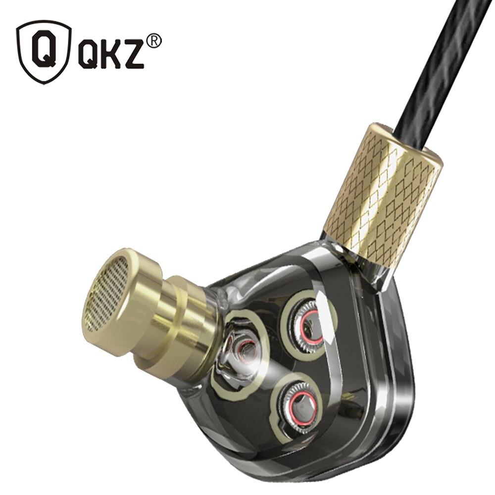 QKZ KD6 Écouteur 6 Unités Armature Équilibrée BA Pilotes auriculares Moniteur In-Ear Noise Cancelling Personnalisé Écouteurs fone de ouvido