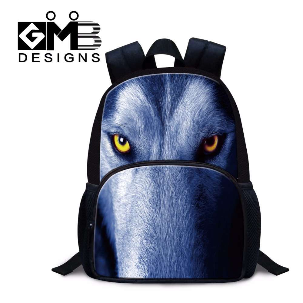 Animal Felt Small Backpacks for Boys Cool Wolf BookBag Tiger Lightweight Back Pack for Kids Mini Preschooler Mochilas Day Pack