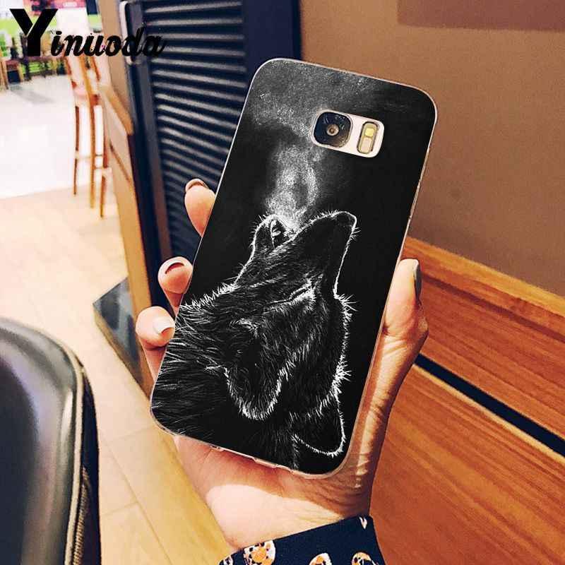 Yinuoda 怒っスノーウルフスマートカバー透明ソフトシェル電話ケース S9 S9 プラス S8 S8plus S7 S6 s5 携帯ケース