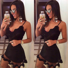 2019 Women maxi Casual bandage bodycon Summer Sleeveless lace beach Party Evening Short Mini Dress Hot Sale