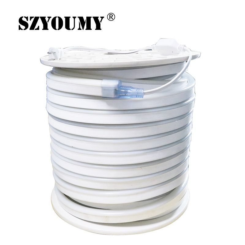 SZYOUMY SMD 5050 AC 220V Led Strip Flexible Light 10M 15M 20M 25M 30M 35M 40M 80 Leds/M Waterproof Neon Led Light + EU Plug