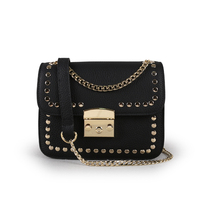 2017 New Leather Handbags Korean Version Of The Trend Of Rivets Small Square Fashion Ladies Shoulder