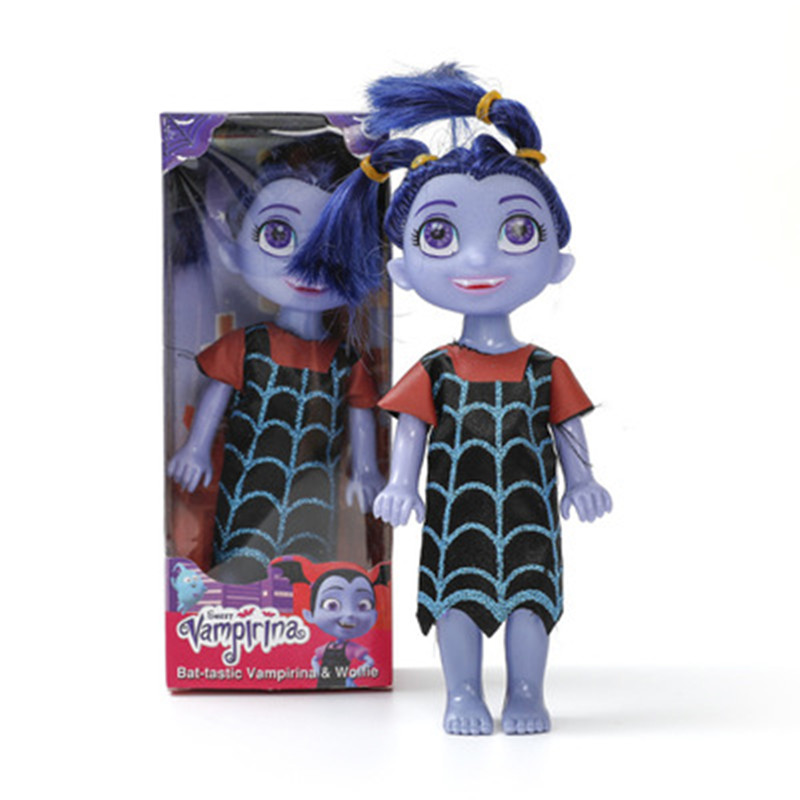 Hot 18CM New Cartoon Junior Vampirina Plush Dolls Toys Action Toys Figure Stuffed Plush Dolls Toys For Children Gift