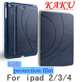 KAKU Ultra Slim PU Leather Smart Flip Stand Cover Case For apple iPad 2/3/4 case ipad 4 case Wake Up/Sleep Function