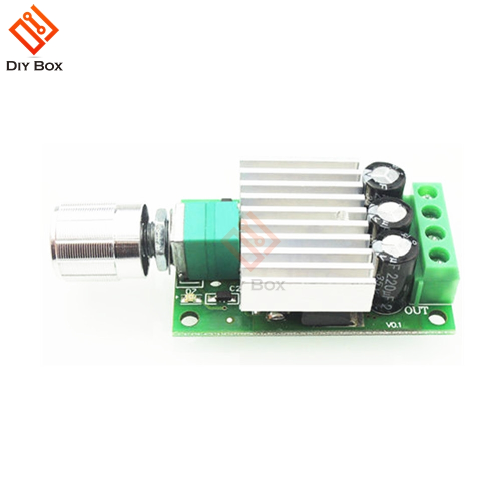 10A 12V-30V PWM DC Motor Speed Controller Adjustable Speed Regulator Governer 12V 24V Fan RC Motor Speed Control Heat Sink