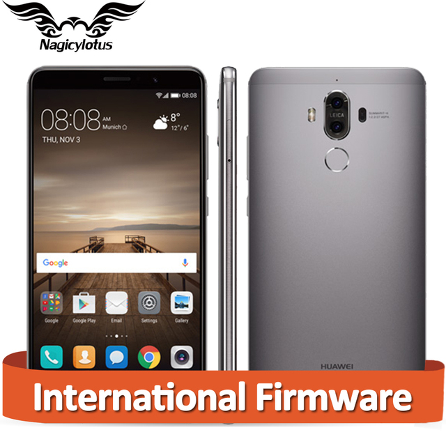 "Оригинал Huawei Mate 9 Mate9 4 Г LTE Окта основные 6 ГБ RAM 128 ГБ ROM 5.9 ""HD Android 7.0 Отпечатков Пальцев ID 20MP + 12MP Камеры Мобильного Телефона"