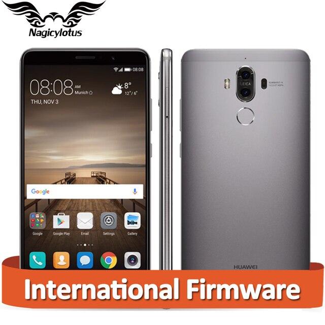 "Оригинал Huawei Mate 9 Mate9 4 г LTE Восьмиядерный 6 ГБ ОЗУ 128 ГБ ROM 5.9 ""HD Android 7.0 отпечатков пальцев ID 20MP + 12MP камеры мобильного телефона"