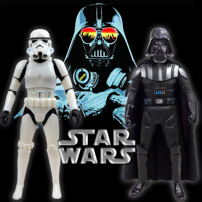 33cm Star Wars Figure Action The Force Awakens Black Series Darth Vader Stormtrooper Model Toy For Kid's Gift saintgi saintgi star wars the force awakens kylo ren action figure pvc 16cm model toys kids gifts collection free shipping