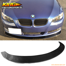Fit For 2005-2013 BMW E92 E90 3 Series Coupe Sedan Carbon Fiber Front Bumper Lip