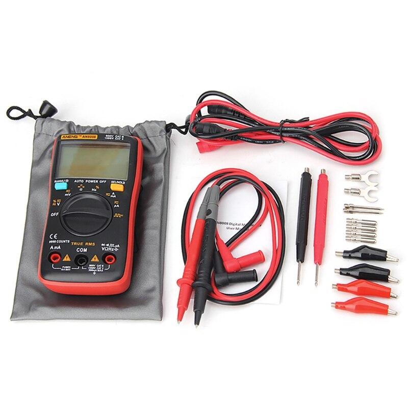AN8008 True RMS LCD Digital Multimeter Voltmeter Ammeter AC DC Voltage Current