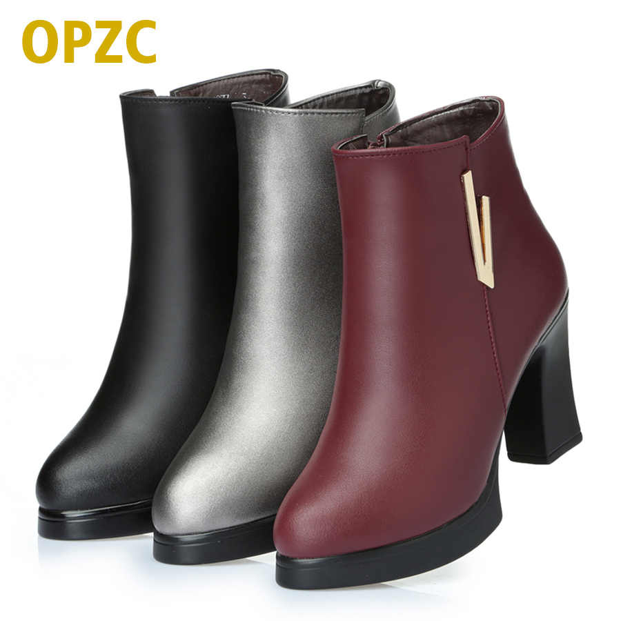 035f72dd318b Модные красные ботинки на  2018 новые женские ботильоны. Женские зимние  сапоги из натуральной кожи. Модные красные ботинки на ...