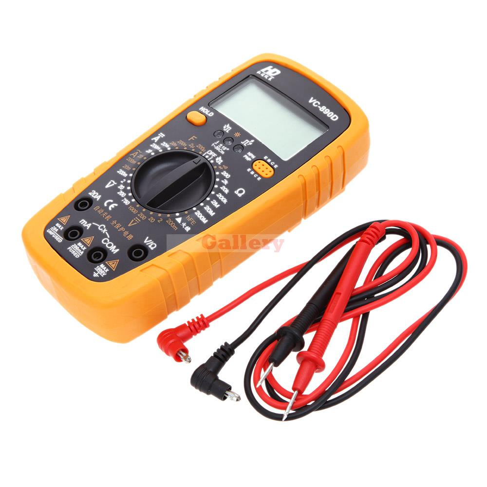 High Quality Hd Vc-890d Handhold Electrical Digital Multimeter with Test Lead And Data Hold Function Auto Power Off Multimetro цена