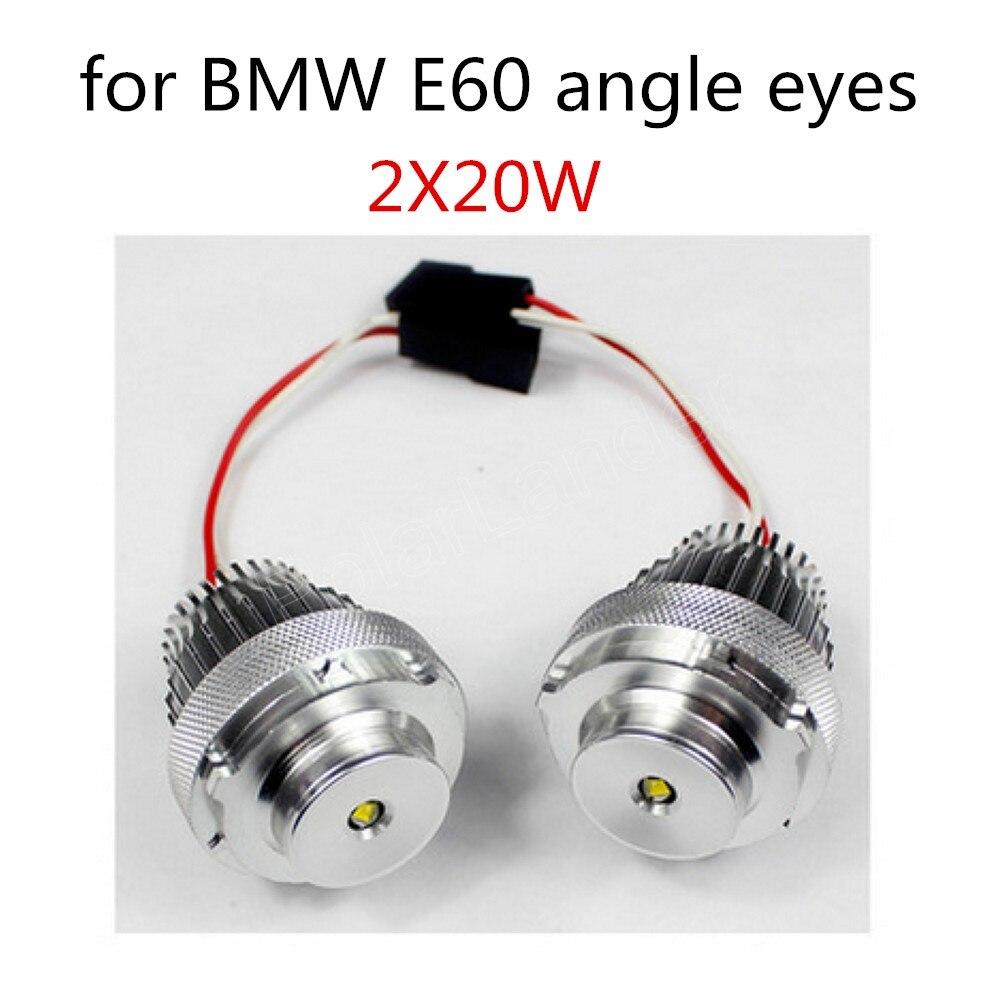 10WX2 LED ange yeux ampoule marqueur pour BMW E60 lumière blanche 2 pièces