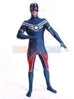 The Most Popular Shield Star Captain America Costume Fullbody Spandex Captain Zentai Suit