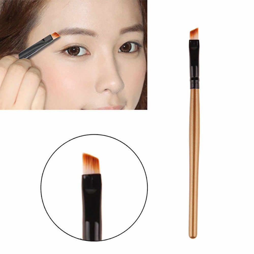 Professionele Make-Up kwasten Wenkbrauw Borstel, Professionele Flat Angled Eye Brow Eyeliner Brush