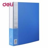 Deli 1pcs document report folder metal clips transparent thickening double-hole double perforation clip plastic holder