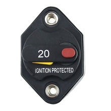 цена на 1 pcs 32V 15A 20A 30A 40A 50A 70AWaterproof Circuit Breaker Fuse Inverter with Manual Reset Button for Truck RV Marine trailer