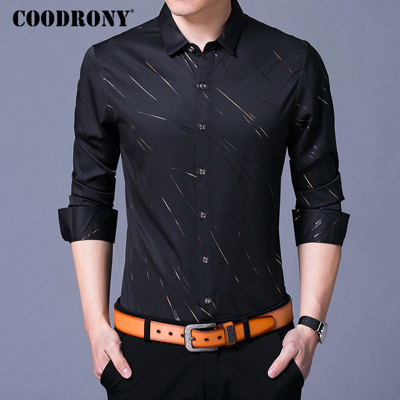bcfe8a150 COODRONY Casual Shirts Long Sleeve Shirt Men Dress Brand Clothes 2018  Autumn New Arrivals Cotton Camisa Masculina Plus Size 8742-in Casual Shirts  from Men's ...
