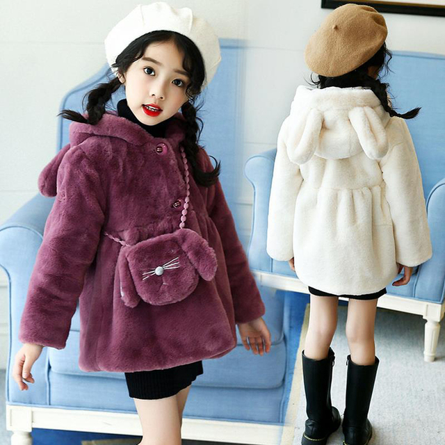 490f64c46480 New Arrival Girls Winter Outerwear Fashion Thick Warm Faux Fur Coats ...