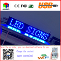 40X8 inch P10 indoor blue LED sign wireless and usb programmable rolling information  1000x200MM led display screen