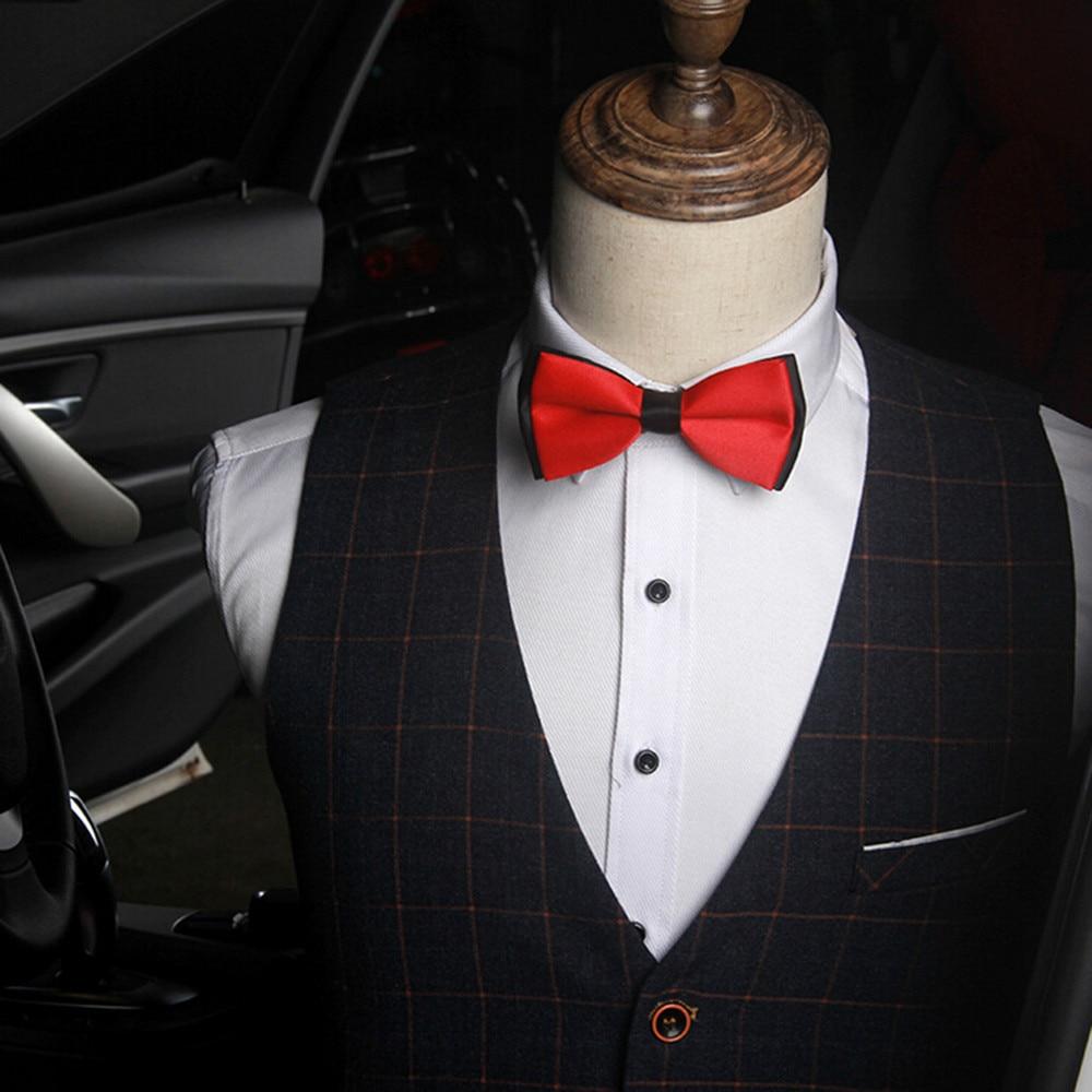 Men's Plain Bowtie Polyester Tied Wedding Tuxedo Bow Tie Necktie Accessory #22