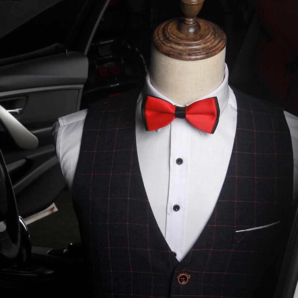 Plain Bowtie Poliéster Amarrado dos homens Casamento Smoking Gravata borboleta Gravata Acessório #22