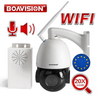 20X оптический зум 1080 P беспроводной PTZ купольная ip камера wifi наружная видеонаблюдения Видео камера Аудио разговор динамик 80 м ночное видение