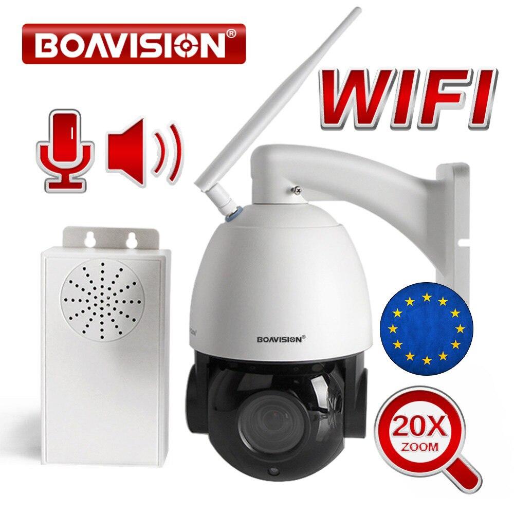 20X Optique Zoom 1080 P Sans Fil PTZ Dôme IP Caméra 25fps En Temps Réel WIFI Vidéo CCTV Caméra Audio Parler Haut-Parleur IR 80 m Nuit Vision