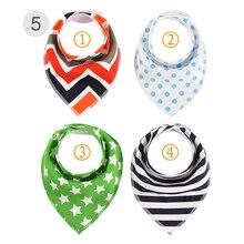 4Pcs/Lot Newborn Baby Burp Cloths Feedings Bandana Toddler Infant Bibs Cotton Anti-Dirty Scarf Saliva Towels Dropshipping