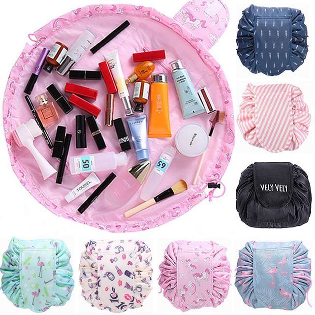 f64d7a767f2b US $3.98 20% OFF|Animal Flamingo Cosmetic Bag Professional Drawstring  Makeup Case Women Travel Make Up Organizer Storage Pouch Toiletry Wash Kit  -in ...