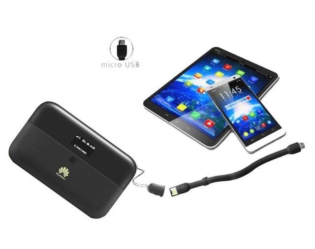 Original 300Mbps Huawei WiFi 2 Pro E5885 3G 4G LTE FDD TDD inalámbrica de bolsillo Router WiFi con puerto Ethernet 6400mAh Banco de la energía