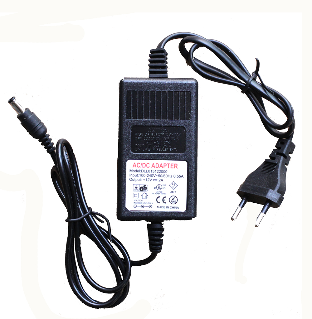 Vanxse DC12V2A power adapter Supply for CCTV Security Camera Surveillance 12v 5a 8ch power supply adapter work for cctv suveillance camera system dc 12v power supply 8 port dc pigtail coat