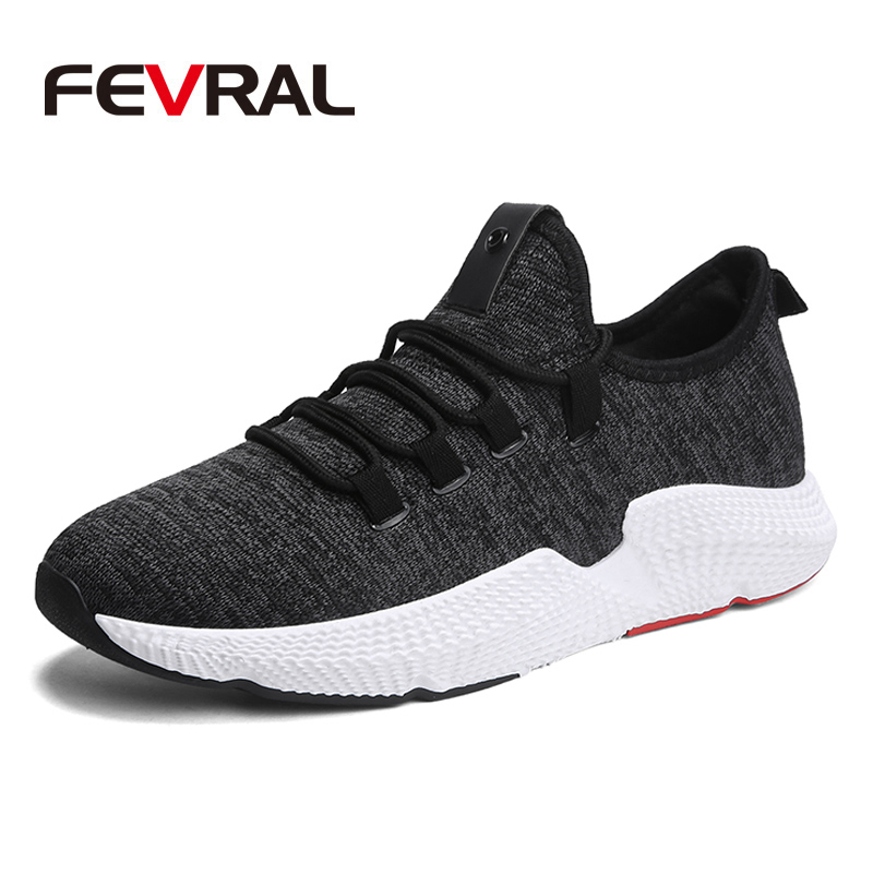 FEVRAL Newest Spring Autumn Running Men Shoes For Outdoor Comfortable Brand Men Sneakers Men Breathable Sport Shoes Size 39-44