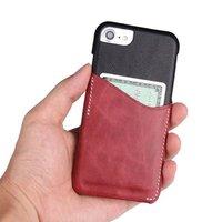 עבור Iphone X 6 6 s 7 8 פלוס רטרו עור אמיתי Dermic Case כיסוי חריץ כרטיס דק דק עסקי מקרי מגן גב אביזרי