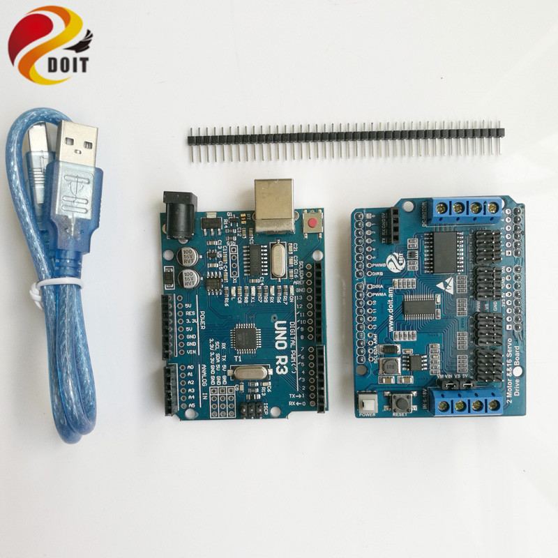 DOIT Robot Arm Controller Development Kit for Arduino UNO 2 Way Motor 16 Way Servo for Mobile Tank Car Chassis
