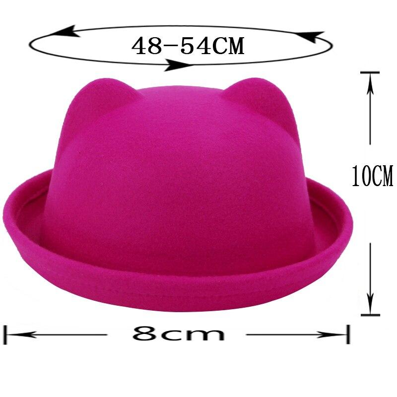 2018 New Kids wo felting Bowler hat for girls boys fedora hats Dome ... ec163b795f9
