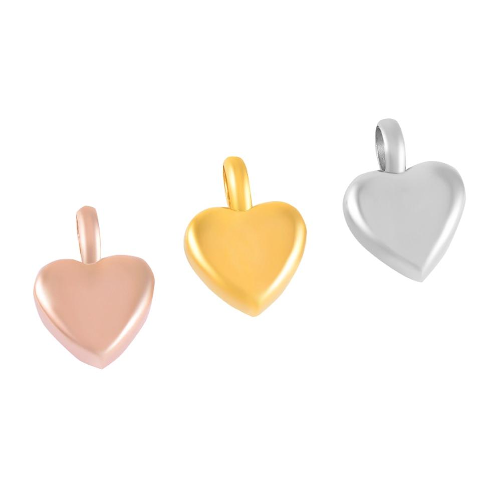 купить IJD9412 100pcs Stainless Steel Silver/Gold/Rose Gold Small Heart Charm Urn Cremation Ashes Keepsake Heart Urn Pendant Charm по цене 12189.94 рублей