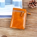 2016 Women's Short Genuine Leather Wallet Luxury Real Leather Famous Brand Small Wallets for Women Cowhide Zipper Coin Purse