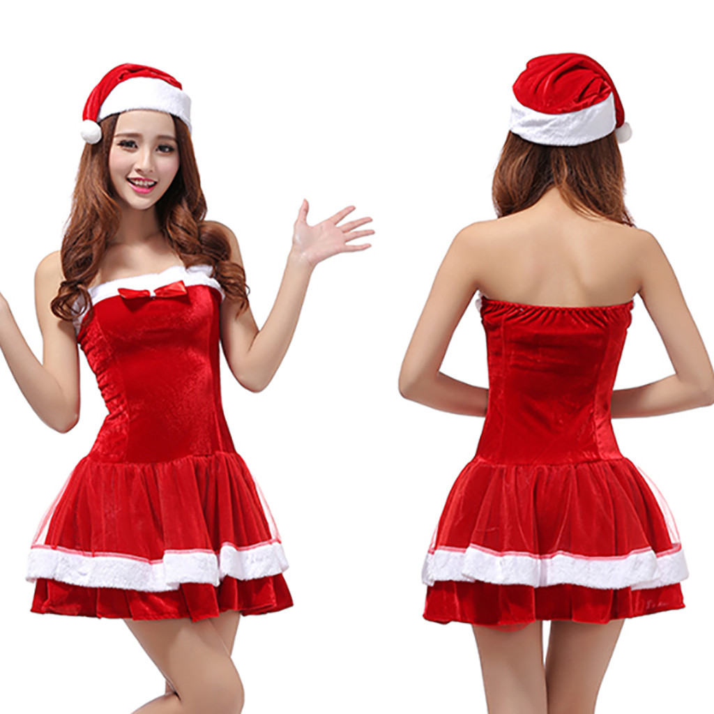 Youyedian High Sexy Adults Womens Santa Claus Christmas -1564