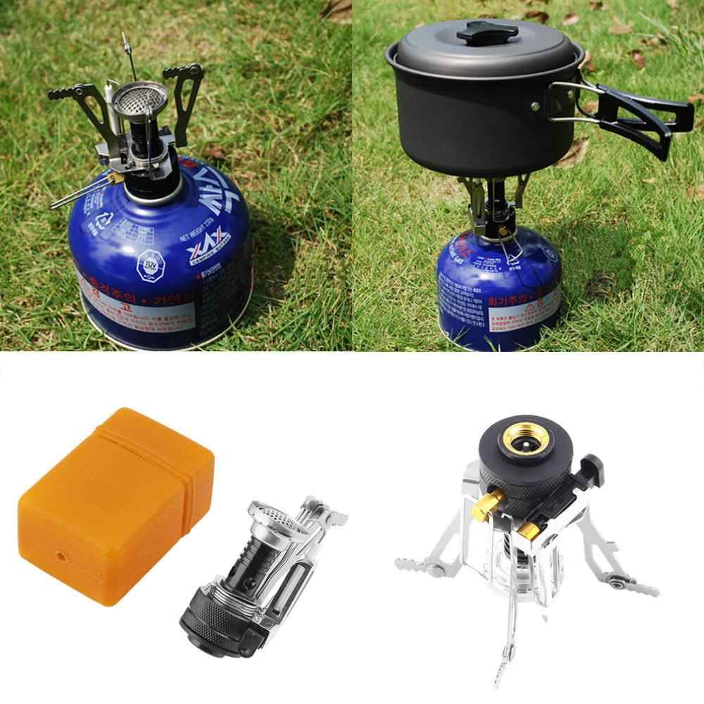 Hot Portable Outdoor Picnic Gas Foldable Camping Mini Baja Kompor Casedrop Pengiriman