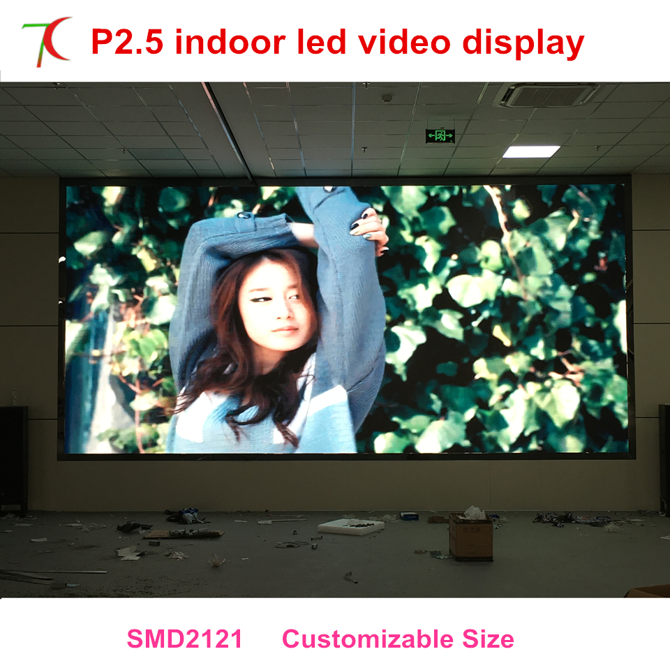 Yao Caixing P2.5 Indoor Full Color Unit Board For  Led Screen,2000cd,160.000pixels High Resolutions