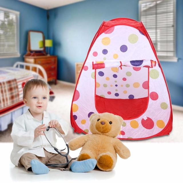Portátil Bonito Crianças Crianças Brincam Tenda Brinquedo Casa Jogo Tenda Jardim Dobrável Pop Up Promoção Presente de Natal