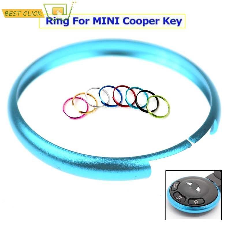 Blue Metal Protective Ring For 08-Up Mini Cooper R55 R56 R57 R58 R59 R60 Key Fob