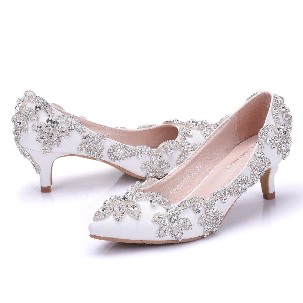 5cm crystal shoes sweet rhinestone wedding bridal shoes temperament elegant high heels sexy stiletto shallow mouth single shoes