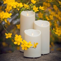 Luminara Indoor Outdoors Led Candle Flickering Flameless Waterproof Battery Operated Moving Wick Pillar LED Candles for Party
